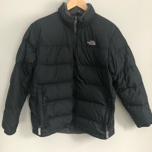 Boys' North Face Black 550 Puffer Jacket Size XL